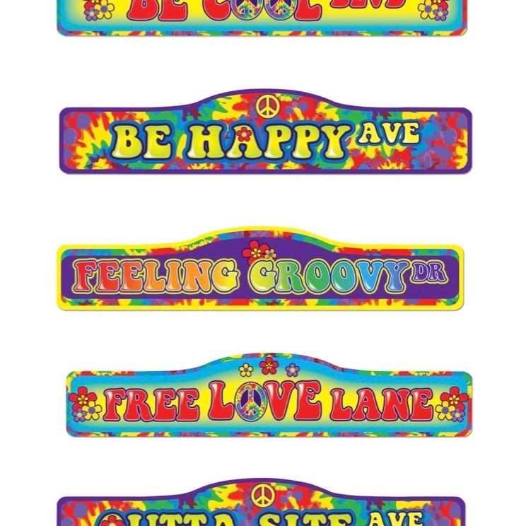 Carteles Decoracion Hippie El Rey De Las Fiestas - Decoracion-hippie-fiesta